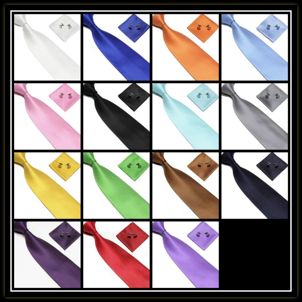 Solid tie set collage 2