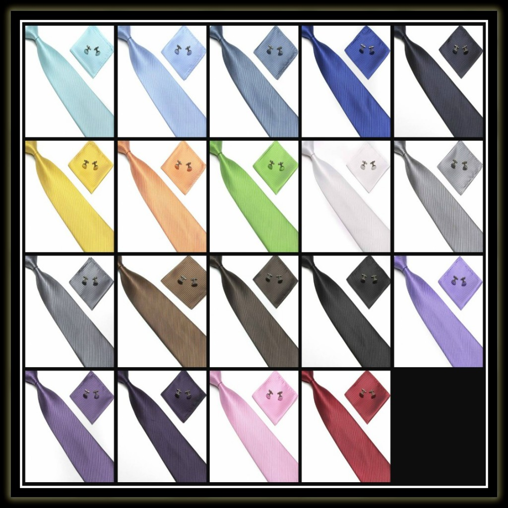 Striped tie sets collage 2