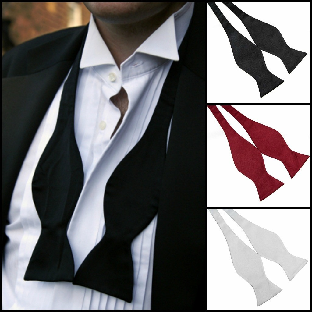 self tie bow ties collage